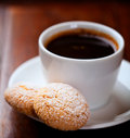 Biscotti and a cup of coffee Royalty Free Stock Photo