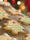Biscotti dell'albero di Natale Immagine Stock