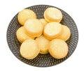 Biscotti dello Shortbread del yo-yo Fotografie Stock Libere da Diritti