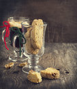 Biscotti with walnuts toned image Royalty Free Stock Photos