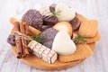 Biscuit assortment of on board Royalty Free Stock Photo