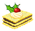 A biscuit for christmas illustration of on white background Stock Photography