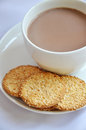 Biscuit with coffee Royalty Free Stock Photography