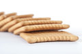 Biscuit dry on white background Royalty Free Stock Photography