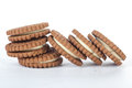 Biscuit dry on white background Royalty Free Stock Photo