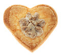 Biscuit en forme de coeur Photo stock