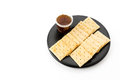 biscuit with pineapple jam Royalty Free Stock Photo