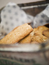 Biscuit on a plate with selective focus Stock Images