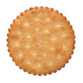 Biscuit on a white background Stock Image