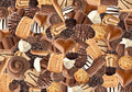 Biscuits and chocolates Stock Image
