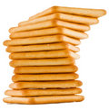 Biscuits combined columns Stock Images