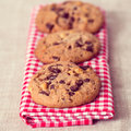 Biscuits de puces de chocolat Image stock