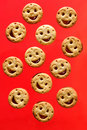 Biscuits de sourire Photo libre de droits