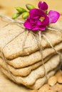 Biscuits with flower Stock Photography