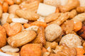 Biscuits and glazed peanuts japanese mix with Royalty Free Stock Photo