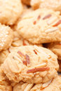 Biscuits with nuts Royalty Free Stock Photo