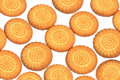 Biscuits round shape sweet background Royalty Free Stock Photos