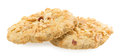 Biscuits sprinkled with nuts Royalty Free Stock Images