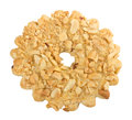 Biscuits sprinkled with nuts Stock Images