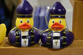 Bishop ducks two toy rubber Stock Images
