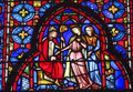 Bishop Queen Stained Glass Sainte Chapelle Paris France Royalty Free Stock Photo