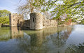 Bishop s palace wells the moat somerset england adjacent to cathedral Stock Photo