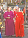 Bishops at the birth of  new University. Royalty Free Stock Images
