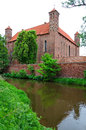 Bishops cathedral old castle in lidzbark warminski Royalty Free Stock Photography