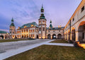 Bishops palace in kielce in the evening poland Stock Images