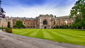 Bishops palace next to wells cathedral wells somerset england Royalty Free Stock Photo