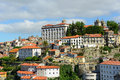 Bishops palace porto portugal and cathedral are located above the douro river overlooking the old city old city is Royalty Free Stock Images