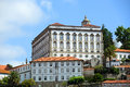 Bishops palace porto portugal are located above the douro river overlooking the old city old city is registered as the Royalty Free Stock Image