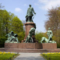 Bismark Memorial in Berlin's Tiergarten Royalty Free Stock Photo