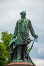 Bismark statue of the prussian statesman otto von Stock Photo
