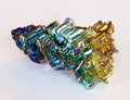 Bismuth crystal close up of a Royalty Free Stock Image