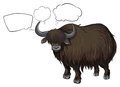 A bison with empty callouts illustration of on white background Stock Photo