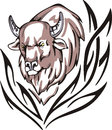 Bison tattoo Stock Image
