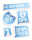 Bisphenol A free products stickers. Royalty Free Stock Photos