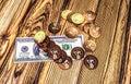 Bit coin BTC the new virtual mone, 3d render