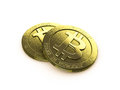 Bit coins Royalty Free Stock Image