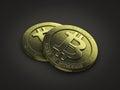 Bit coins Stock Image