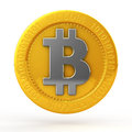 Bit coins the coin on white background Royalty Free Stock Photo