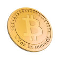 Bit coins the virtual currency concept illustration Royalty Free Stock Photography
