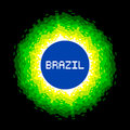 Bit pixel art brazil world concept colors are saved as global swatches for easy re coloring Royalty Free Stock Photography