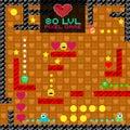 8-Bit Pixel Retro Arcade Game. Old video game design.