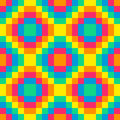 Bit seamless rainbow diamond pattern background tile using pink orange yellow green and blue Royalty Free Stock Photo