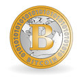 Bitcoin coin new currency virtual money for internet business Stock Photography