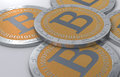 Bitcoin coins Stock Photos
