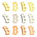 Bitcoin currency sign set isolated