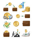 Bitcoin Icons Illustration Stock Images